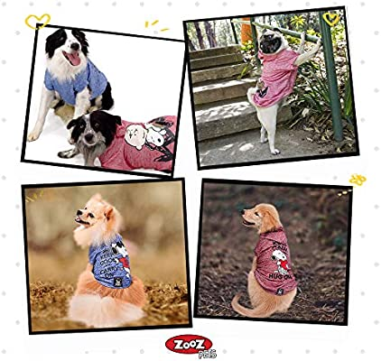 Supreme Hoodies for Dogs Lightweight Sweatshirt for Dogs /& Cats in 5 Different Sizes and Styles Puppy to XL Pets Dog Sweatshirts for Small Medium and Large ZOOZ PETS Snoopy Dog Clothes Hoodie