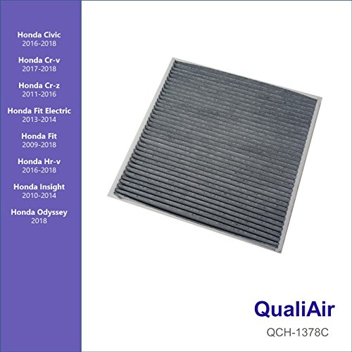 QualiAir QCH-1378C, Activated Carbon Cabin Air Filter for Honda