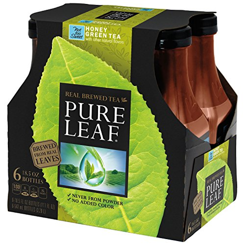 Tea Sweet Green Honey (Pure Leaf Iced Tea, Not too Sweet Green Tea with Honey, Real Brewed Tea, 0 Calories, 18.5 Ounce Bottles (Pack of 6))