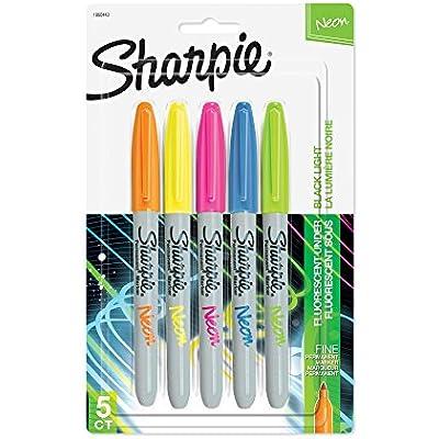 sharpie-1860443-neon-permanent-markers