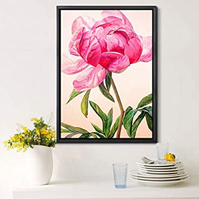 Malbaba Peony Flower DIY 5D Diamond Painting Kit for Adult Kids Full Drill Embroidery Cross Stitch Picture Arts Craft for Home Decor: Toys & Games