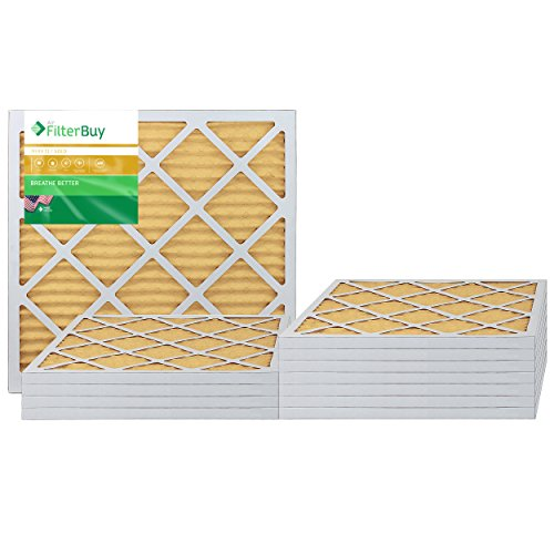 AFB Gold MERV 11 24x24x1 Pleated AC Furnace Air Filter. Pack of 12 Filters. 100% produced in the USA. by FilterBuy