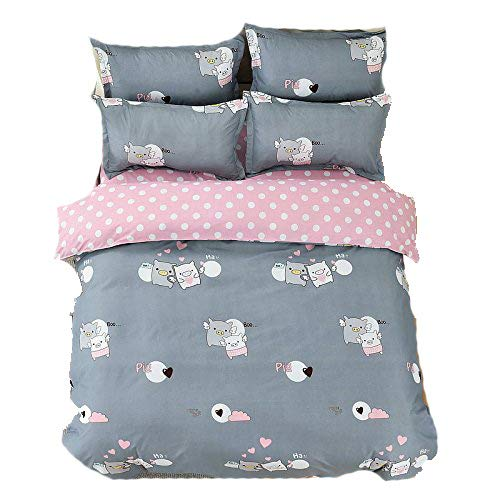 Bed Set 4pcs Kids Beddingset One Duvet Cover Without Comfoter One Flat Sheet Two Pillowcases Full 70