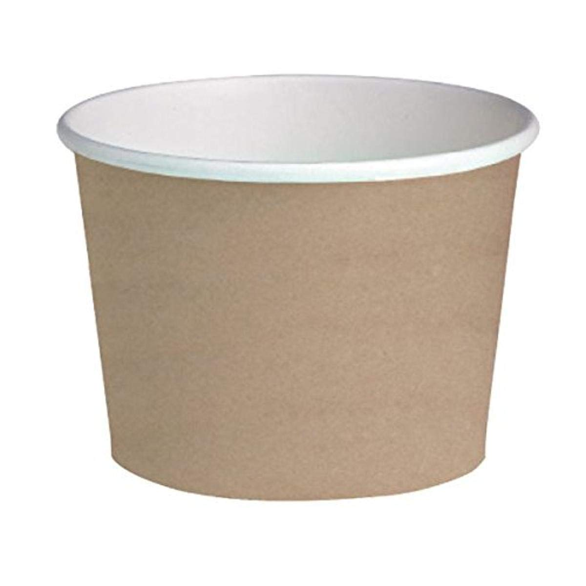 Round Kraft Paper Deli Containers (Case of 50), PacknWood - Disposable Food Container (24 oz, 4.9