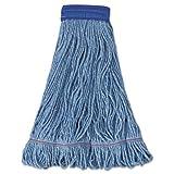 Boardwalk 504BL Mop Head Super Loop Head Cotton/Synthetic Fiber X-Large Blue 12/Carton