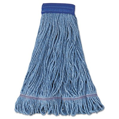 Boardwalk 504BL Mop Head Super Loop Head Cotton/Synthetic Fiber X-Large Blue 12/Carton