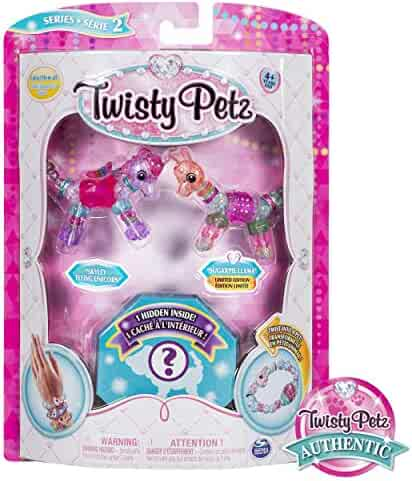 Twisty Petz, Series 2 3-Pack, Skyley Flying Unicorn, Sugarpie Llama and Surprise Collectible Bracelet Set for Kids