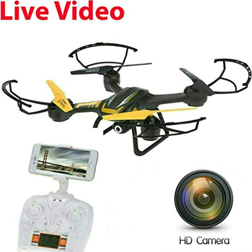 SkyCo New TK109 Rc WiFi FPV WiFi Drone Quadcopter with HD Camera Live Video One-Key-Return RFT Headless Helicopter Altitude Hold,4 Ch 2.4ghz 6-gyro,Headless System