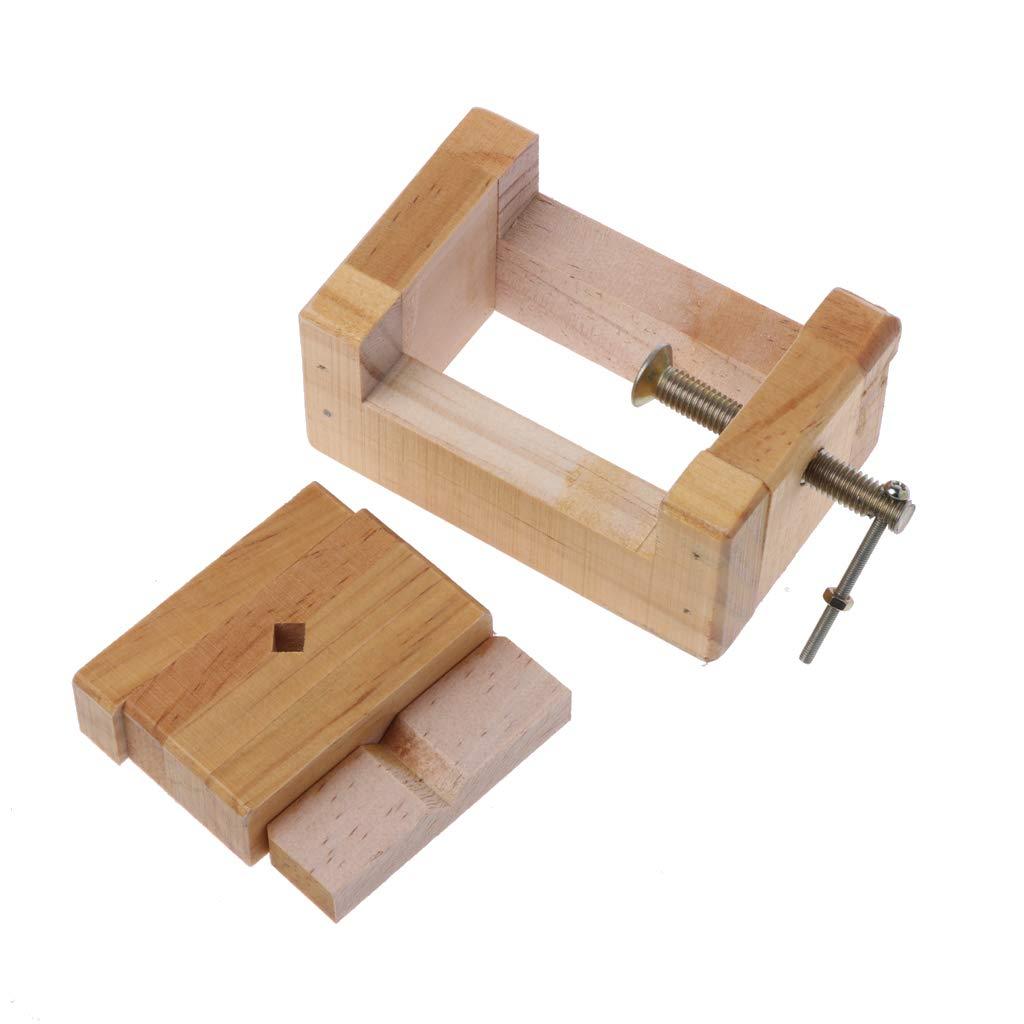 PoityA Wood Flat Vise Mini Clamp-on Bench Vise Flat Tongs Woodworking Carving Engraving