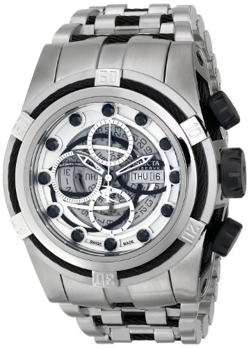 Invicta Men's 14306 Bolt Analog Display Swiss Automatic Silver Watch