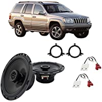 Fits Jeep Grand Cherokee 1996-2004 Front Door Factory Replacement Harmony HA-R65 Speakers
