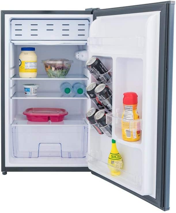 3.3 Cubic Foot Refrigerator with Freezer (Stainless Look)