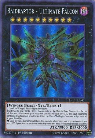 Yu-Gi-Oh! - Raidraptor - Ultimate Falcon (SHVI-EN053) - Shining Victories - 1st Edition - Super Rare (Gi Oh Edition Yu Cards 1st)