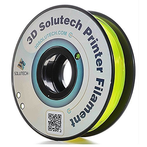 3D Solutech PETG175YLW See Through Yellow 1.75 mm PETG 3D Printer Filament 2.2  lb. (1.0 Kg) - 100% USA