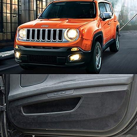 Premium Suede puerta entrada proteger anti arañazos cubierta accesorios para Jeep Renegade: Amazon.es: Coche y moto