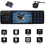 D&A Car Stereo MP5/Digital media receiver with Bluetooth FM Radio Indash/4.1inch HD Digital Screen/MP3 Video Player, Single Din USB/AUX in/Hands-Free Calling/Rear View Camera Input and Wireless Remote