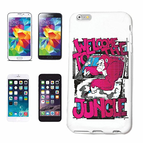 "cas de téléphone iPhone 7S ""BIENVENUE À LA JUNGLE BIENVENUE À LA SALSA LEGENDARY JUNGLE MONKEY GORILLA APE CHIMPANZEE Lifestyle Mode STREETWEAR HIPHOP"" Hard Case Cover Téléphone Covers Smart Cover pou"
