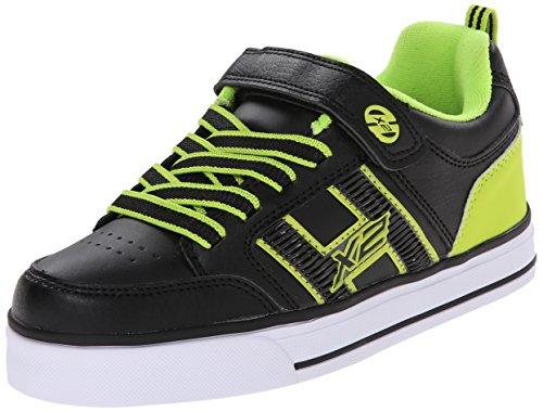Heelys Bolt Skate Shoe (Little Kid/Big Kid), Black Lime, 4 M US Big Kid