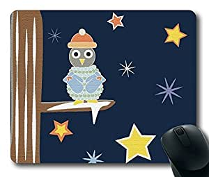 Cozy Owl Easter Thanksgiving Personlized Masterpiece Limited Design Oblong Mouse Pad by Cases & Mousepads by runtopwell