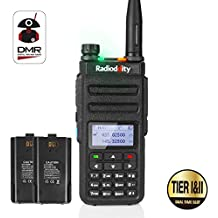 Radioddity GD-77 Dual Band Dual Time Slot DMR Digital/Analog Two Way Radio 136-174/400-470MHz 1024 Channels Ham Amateur Radio Compatible with MOTOTRBO, Free Programming Cable and Extra Battery