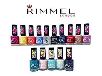 15 Pack) Rimmel London 60 Seconds Finger Nail Polish Set 15-Piece ...