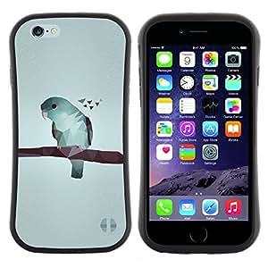 "Hypernova Slim Fit Dual Barniz Protector Caso Case Funda Para Apple (5.5 inches!!!) iPhone 6 Plus / 6S Plus ( 5.5 ) [Arte gris minimalista azul""]"