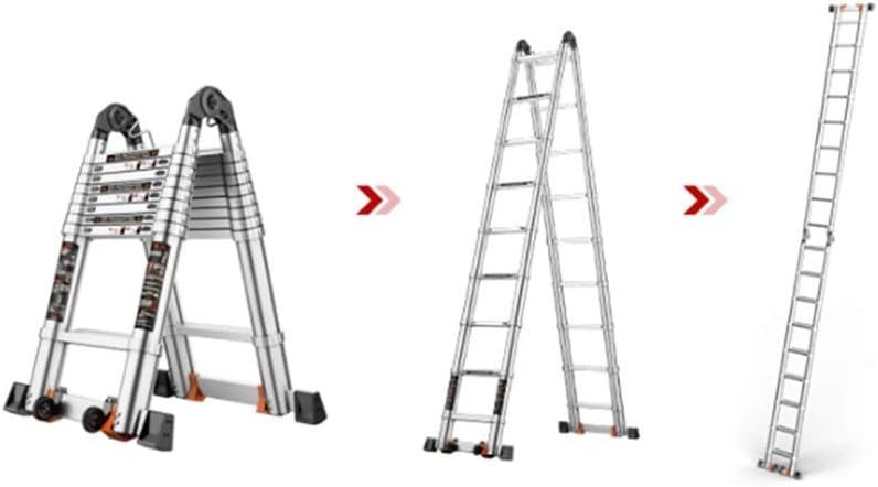 XSJZ Escalera Telescópica Mini, Aleación de Aluminio Telescópica Plegable Escalera Multifunción Portátil para Ahorrar Espacio Adecuada para Ingeniería Elevador Ascendente Pesado Escalera Plegable: Amazon.es: Hogar