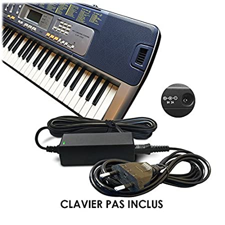 ... de cargador de pared y Cable (AD-5, 5E, AD-AD-5MLE, AD-5MLE-TC1, AD-5MR, AD-5EL, AD-5MU, AD-5GL) para Casio Synthesizers Piano/s/teclado, color teclado ...