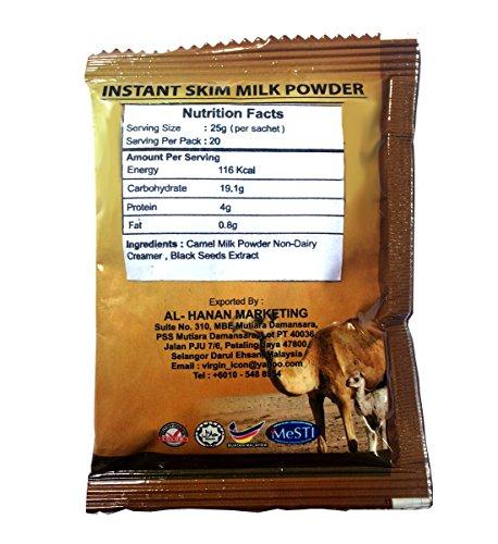 20 Packs Camel MILK Powder Halal Protein Calcium With Black seed Boost Immune bedouin Arab Drink