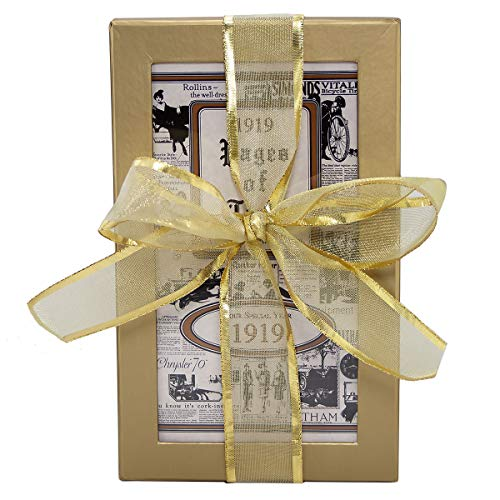 - 100th Birthday Gift Basket Box - Live Your Life - with 1919 Trivia Booklet