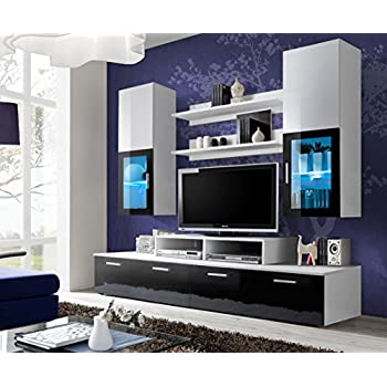 paris contemporary design wall unit modern entertainment center unique modern design. Black Bedroom Furniture Sets. Home Design Ideas