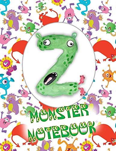 Z Monster Notebook: Kids Monogrammed Journal and Doodle -