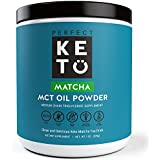 Perfekt Keto Matcha Green Tea: Ketogenic Fat Butter Coffee Alternative w Coconut Oil MCT. Ketone Energy on Ketosis Diet Organic Ceremonial Grade Japanese Matcha Latte Powder