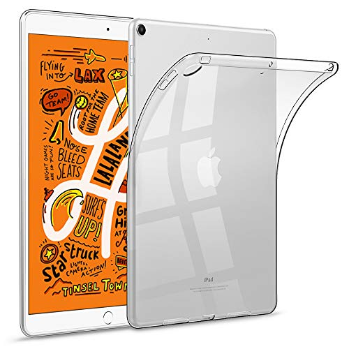 (HBorna Soft Clear Case for iPad Mini 5 2019, Slim Lightweight Silicon TPU Back Cover for 7.9
