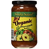 Simply Natural Organic Salsa-Chunky-Pineapple, 470Ml
