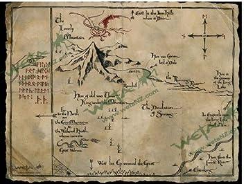 photograph regarding Weta Uk Printable Schedule identify Thorin`s Map Artwork Print towards The Hobbit An Sudden Trip