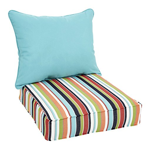 Oakley Sunbrella Striped and Solid Indoor/ Outdoor Corded Pillow and Chair Cushion - Oakley Shopping