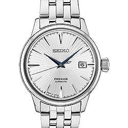 Seiko Men's Presage Automatic Cocktail Time White Dial Dress Watch - Model: SRPB77
