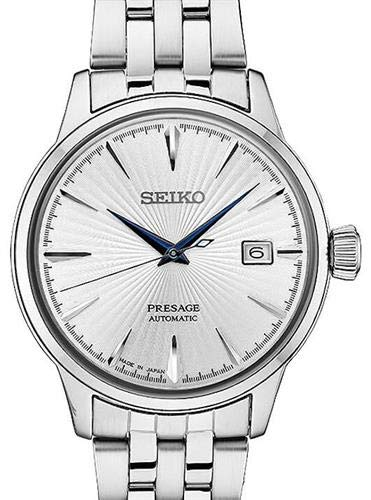 Watch Cocktail - Seiko Men's Presage Automatic Cocktail Time White Dial Dress Watch - Model: SRPB77