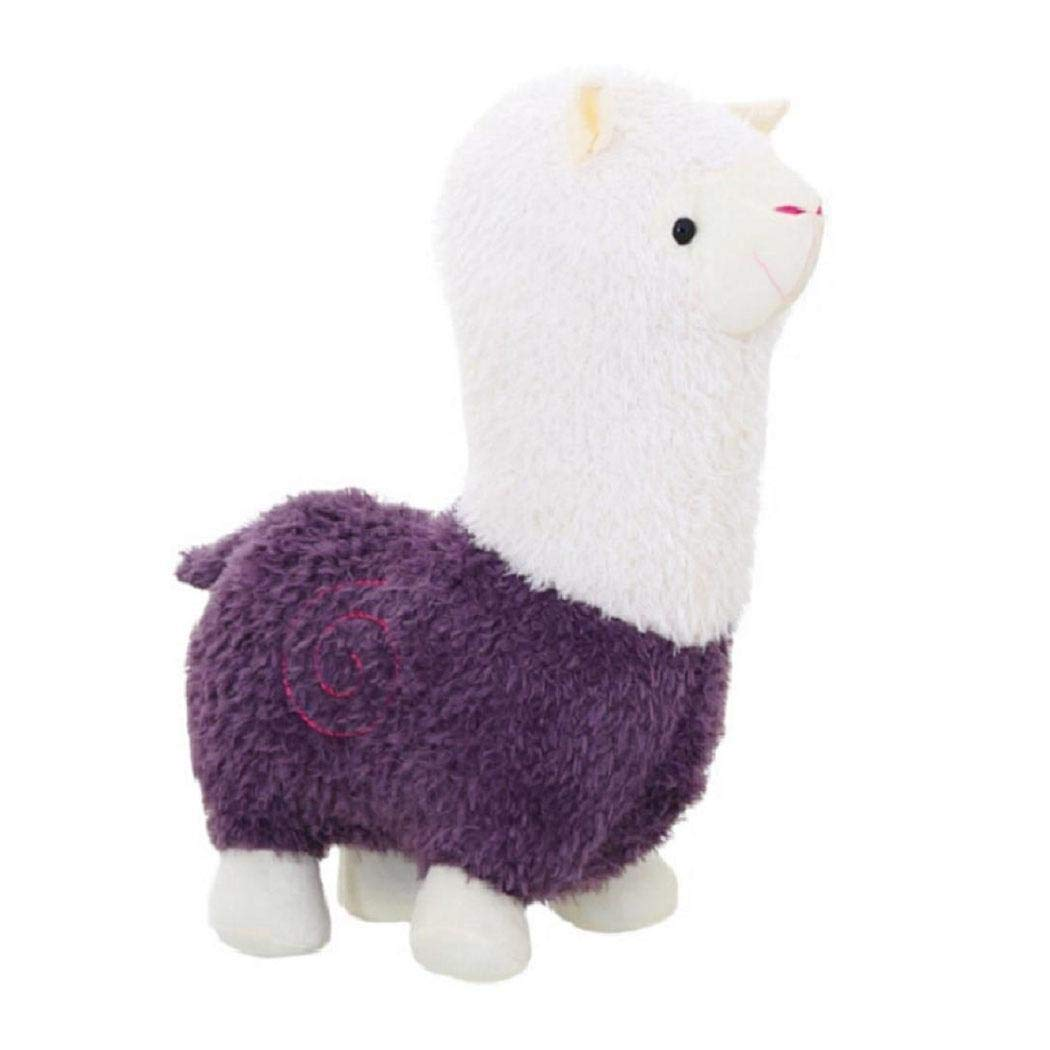 New Kids Children Baby Girls Cotton Blend Plush Cute Small Alpaca Doll Toys Stuffed Animals & Teddy Bears (Purple)