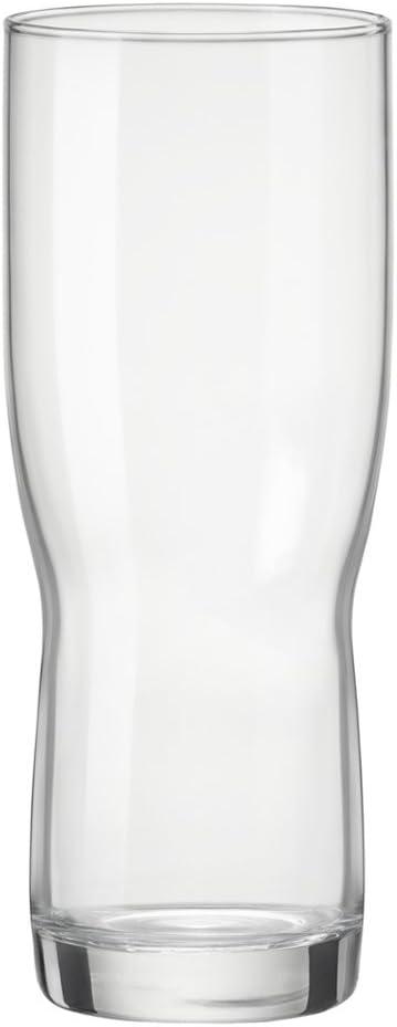 Bormioli Rocco CIF02141 Set 6 Bicchieri Vetro Birra Newpilsner 29Cl Multicolore