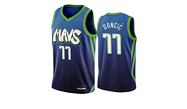 Camiseta de Baloncesto de los Hombres - NBA Dallas Mavericks # 77 ...