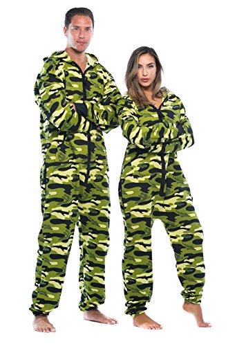 #followme 6436-GRN-M Jumpsuit/Adult Onesie/Pajamas -