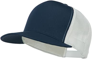 New High Quality Classic Plain Navy Blue Trucker Mesh Snapback Cap hat