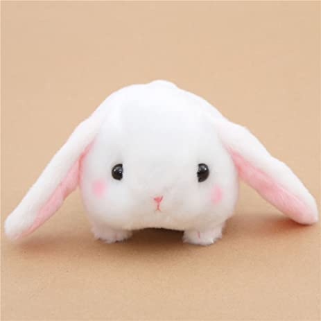 Kawaii white bunny rabbit Poteusa Loppy plush toy from Japan