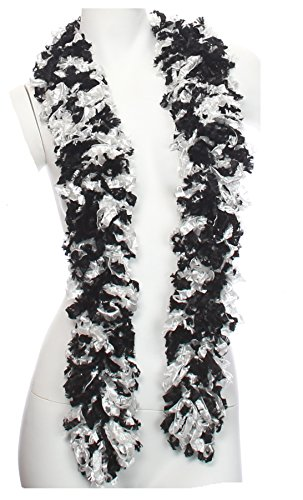 Original Featherless Boa (Black White)