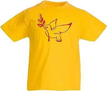 lepni.me Camiseta para Niño/Niña La Paloma y la Rama de Olivo - símbolos de la Paz