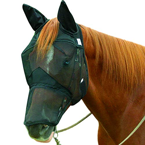 Cashel Quiet Ride Horse Fly Mask, Long Nose with Ears, Horse