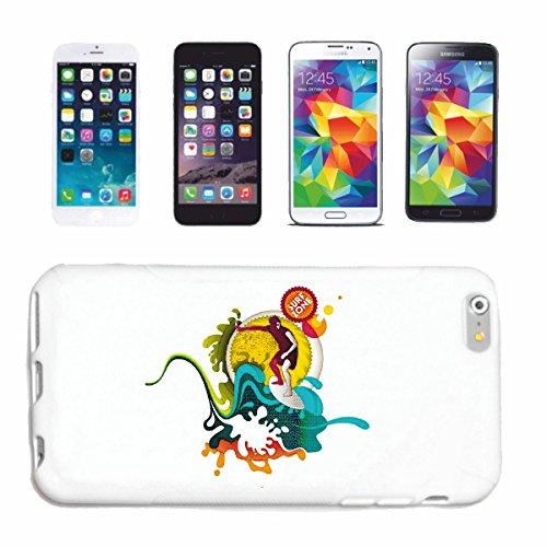 """cas de téléphone iPhone 6+ Plus """"SURFING SURF BEACH SURFBOARDS LONGBOARD ONDES SURF Beginner Shop"""" Hard Case Cover Téléphone Covers Smart Cover pour Apple iPhone en blanc"""