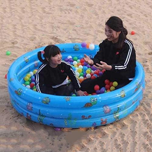 ZHLFDC 肥厚インフレータブルプール屋内ガーデンビーチ子供のエンターテイメントおもちゃ子供バスタブプレイ盆地(色:ブルー)